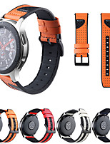 cheap -Watch Band for Gear S3 Frontier / Gear S3 Classic / Gear S3 Classic LTE Samsung Galaxy Sport Band / Classic Buckle Silicone / Genuine Leather Wrist Strap