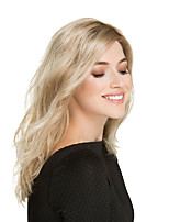 cheap -Synthetic Wig Body Wave Asymmetrical Wig Blonde Long Black / Gold Synthetic Hair 16 inch Women's Party Blonde
