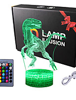 cheap -Dinosaur Gifts T-Rex 3D Night Light 16 Colors Changing Night Lamp for Kids with Remote Control Dinosaur Fan Birthday Gifts from Age 2 3 4 5 6 Years for Boys Girls Men Women
