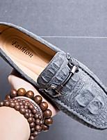 cheap -Men's Summer Outdoor Loafers & Slip-Ons PU Black / Khaki / Blue