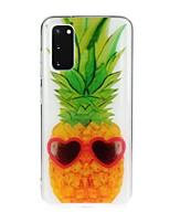cheap -Case For Samsung Galaxy S10 5G/ Galaxy S20 Ultra / Galaxy S10E Transparent / Pattern Back Cover Food TPU For Galaxy A51/A71/A20/A20E/A30/A50/A70/Note 10 Plus