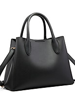 cheap -Women's Zipper PU Leather Top Handle Bag Leather Bags Solid Color Black / Almond / Dark Green