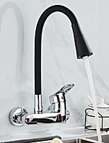 Недорогие -смеситель для кухни - одинарная ручка с двумя отверстиями&современные кухонные краны с высокой дугой