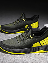 cheap -Men's Spring & Summer / Fall & Winter Sporty / Casual Daily Outdoor Sneakers Running Shoes / Walking Shoes Tissage Volant Breathable Non-slipping Wear Proof Orange / Black / Khaki / Black / Green