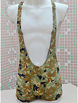 cheap -Men's Print Bodysuits Nightwear Camouflage Army Green One-Size