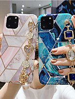 cheap -iPhone11Pro Max Stitching Geometric Marble Pattern Mobile Phone Case XS Max Women's Rhinestone Luxury Bracelet Silicone Soft Shell 6/7 / 8Plus Protective Case