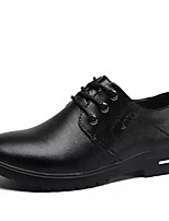 cheap -Men's Summer Casual Daily Oxfords Leather / PU Non-slipping Black / Brown
