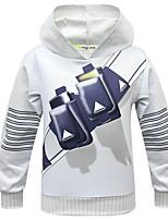 cheap -Kids Boys' Basic Street chic Geometric Long Sleeve Hoodie & Sweatshirt Beige