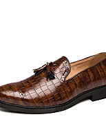 cheap -Men's Summer / Fall Classic / Casual Party & Evening Office & Career Loafers & Slip-Ons Faux Leather Non-slipping Wear Proof Black / Green / Brown / Tassel
