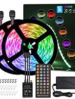 Недорогие -zdm 10м (2 * 5м) светодиодные полосы rgb тикток огни синхронизация музыки дистанционное гибкое 5050 smd 300 светодиодов ir 40 контроллер ключа с инсталляционным пакетом 12v комплект адаптера 4a