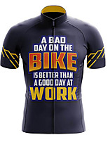 cheap -21Grams Men's Short Sleeve Cycling Jersey Polyester Blue+Yellow Gradient Bike Jersey Top Mountain Bike MTB Road Bike Cycling UV Resistant Breathable Quick Dry Sports Clothing Apparel / Stretchy