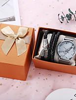 cheap -Men Women Sport Watch Quartz Titanium Alloy Black / Silver / Rose Gold Chronograph Casual Watch Cool Analog Casual Fashion - Blushing Pink Silver Black