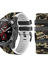 Недорогие -22мм ремешок для часов быстросъемный ремешок для часов ремешок для garmin fenix6 / fenix6 pro / fenix 5 / forerunner 935 easyfit печатный модный спортивный силиконовый