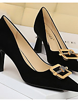 cheap -Women's Heels Spring & Summer Stiletto Heel Pointed Toe Daily Solid Colored PU Black / Khaki