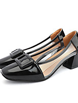 cheap -Women's Heels Spring &  Fall / Spring & Summer Block Heel Square Toe Casual Daily PU Pink / White / Black