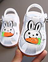 cheap -Girls' First Walkers Microfiber Sandals Little Kids(4-7ys) White / Pink Summer