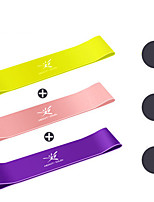 cheap -Resistance Loop Exercise Bands Resistance Bands for Legs and Butt 3 pcs Resistance Bands Sports Emulsion Home Workout Yoga Pilates Portable Durable Lift, Tighten And Reshape The Plump Buttock Shaper