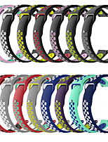 cheap -Fashion Double Color Silicone Strap Breathable Watch Band for Amazfit GTR 42mm / 47mm / Amazfit Pace / Amazfit GTS / Amazfit BIP / Amazfit Stratos