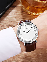 cheap -Men's Sport Watch Quartz Genuine Leather 30 m Water Resistant / Waterproof Calendar / date / day Day Date Analog Fashion Cool - Golden / Brown Black+Gloden Brown One Year Battery Life