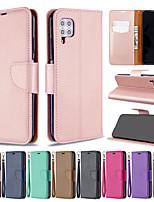 Недорогие -чехол для телефона Huawei P40 Pro P40 Lite искусственная кожа материал личи рисунок сплошной цвет рисунка чехол для телефона P40 Lite E P30 Lite P30 Pro P30 P20 Lite P20 Pro