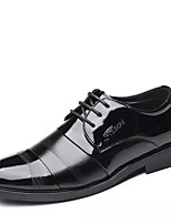 cheap -Men's Summer Casual Daily Oxfords PU Non-slipping Black