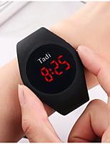 Недорогие -Универсальные Кварцевые На каждый день Мода Белый Синий Коричневый силиконовый Китайский Кварцевый Белый Черный Синий Новый дизайн Повседневные часы 1 ед. Цифровой Один год Срок службы батареи