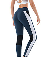 cheap -Women's High Waist Yoga Pants Patchwork Black Blue Running Fitness Gym Workout Tights Leggings Sport Activewear Breathable Tummy Control Butt Lift Moisture Wicking High Elasticity Skinny