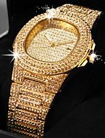 Недорогие -Жен. Кварцевые На каждый день Элегантный стиль Серебристый металл Золотистый Розовое золото сплав Китайский Кварцевый Розовое Золото Черный Золотой Повседневные часы Cool Имитация Алмазный 1 ед.