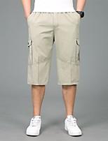 cheap -Men's Hiking Shorts Hiking Cargo Shorts Summer Outdoor Breathable Quick Dry Front Zipper Sweat-wicking Cotton Shorts Bottoms Hunting Fishing Climbing Black Army Green Khaki XL XXL XXXL 4XL 5XL