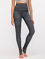 cheap -Women's High Waist Yoga Pants Pocket Stirrup Purple Dark Gray Gray Elastane Running Fitness Gym Workout Tights Leggings Sport Activewear Breathable Tummy Control Butt Lift Moisture Wicking High