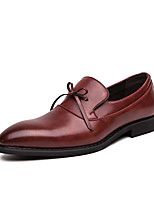 cheap -Men's Fall / Spring & Summer Casual / British Daily Party & Evening Oxfords Leather Breathable Non-slipping Wear Proof Black / Burgundy / Brown