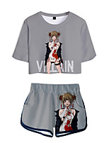 cheap -Inspired by My Hero Academia Boko No Hero Bakugou Katsuki Cosplay Costume Outfits Polyster Print Printing Shorts For Men's / Women's / T-shirt