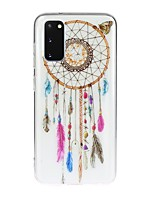 cheap -Case For Samsung Galaxy Galaxy S10 / Galaxy S10 Plus / Galaxy S10 E Transparent / Pattern Back Cover Feathers TPU