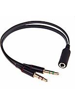 Недорогие -Разъем для наушников portefeuille для компьютера 3,5 мм с двумя разъемами 3,5 мм для наушников и микрофоном