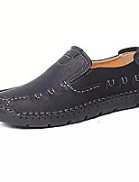 cheap -Men's Summer Casual Daily Loafers & Slip-Ons PU Non-slipping Black / Yellow / Khaki