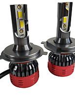 Недорогие -отолампара 2шт h4 / pk43t автомобильные лампочки 55 Вт csp1919 8000 лм 4 светодиодные фары для Honda Fit / Vezel / город 2018/2016/2017