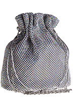 cheap -Women's Crystals Polyester Evening Bag Solid Color Silver