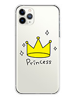 cheap -Case For Apple iPhone 11/11 Pro/11 Pro Max/XS/XR/XS Max/8 Plus/7 Plus/6S Plus/8/7/6/6s/SE/5/5S Transparent Pattern Back Cover Princess Imperial crown Soft TPU