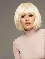 Недорогие -Парики из искусственных волос Прямой Стрижка боб Парик Короткие Блондинка Искусственные волосы 6 дюймовый Жен. Модный дизайн Легко туалетный Sexy Lady Блондинка