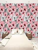 cheap -Art Deco Custom Self-Adhesive Mural Wallpaper Daisy Flowers Suitable For Bedroom Living Room Coffee Shop  Landscape Home Decoration Modern Wall Covering