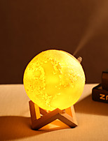 cheap -3D Printing Air Humidifier Lava & Moon Lamp Touch Control Dimming For Kids Study Bedroom USB Essential Oil Diffuser Night Light