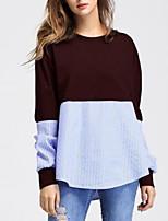 cheap -Women's Color Block Patchwork Print T-shirt Daily Wine