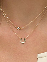 cheap -Women's Pendant Necklace Boho Gold Plated Gold 35 cm Necklace Jewelry 1pc For Daily