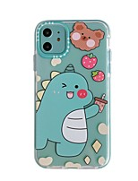 cheap -Case For Apple iPhone 11 / iPhone 11 Pro / iPhone 11 Pro Max with Stand / IMD / Pattern Back Cover Animal / Cartoon TPU