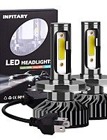 cheap -2pcs F2-COB Dual Beam LED Headlight H4 / H13 / 9004(HB1) / 9007(HB5) Motorcycle / Car Light Bulbs 72W 6500K LED Headlamps