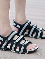 cheap -Men's Summer Outdoor Sandals PU Non-slipping Black and White / Black