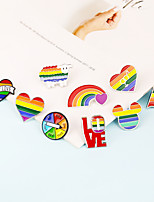 cheap -Brooch Rainbow Alloy For LGBT Pride Cosplay Men's Women's Costume Jewelry Fashion Jewelry
