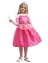 cheap -Princess Sleeping beauty Aurora Dress Cosplay Costume Girls' Movie Cosplay A-Line Slip Halloween Pink Dress Halloween Carnival Masquerade Satin / Tulle