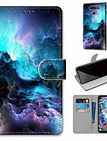 cheap -Case For LG Q70 / LG K50S / LG K40S Wallet / Card Holder / with Stand Full Body Cases Colorful Clouds PU Leather / TPU for LG K30 2019 / LG K20 2019