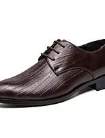 Недорогие -Муж. Лето На каждый день Повседневные Туфли на шнуровке Полиуретан Нескользкий Черный / Коричневый